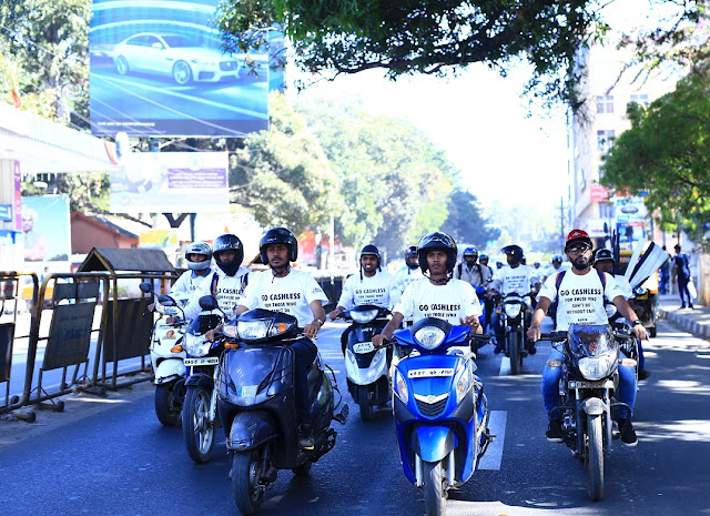 Go-Cashless Rally kicked off in Bengaluru as part of 'Remonetise India' Campaign!