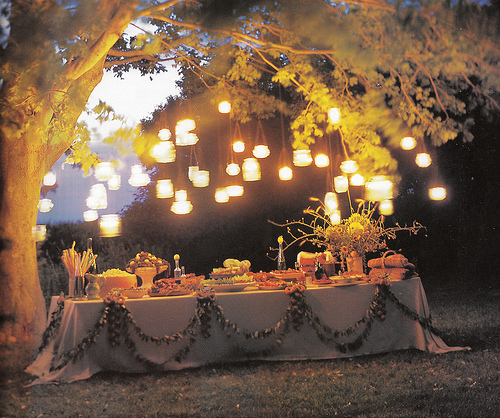 Evening Wedding Reception Decoration Ideas: Ideas For Lighting Up Your Outdoor Wedding