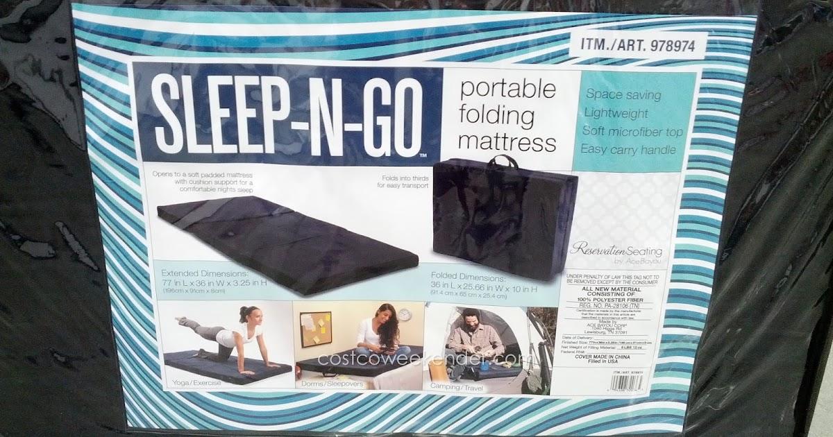 Ace Bayou SleepNGo Portable Folding Mattress  Costco Weekender