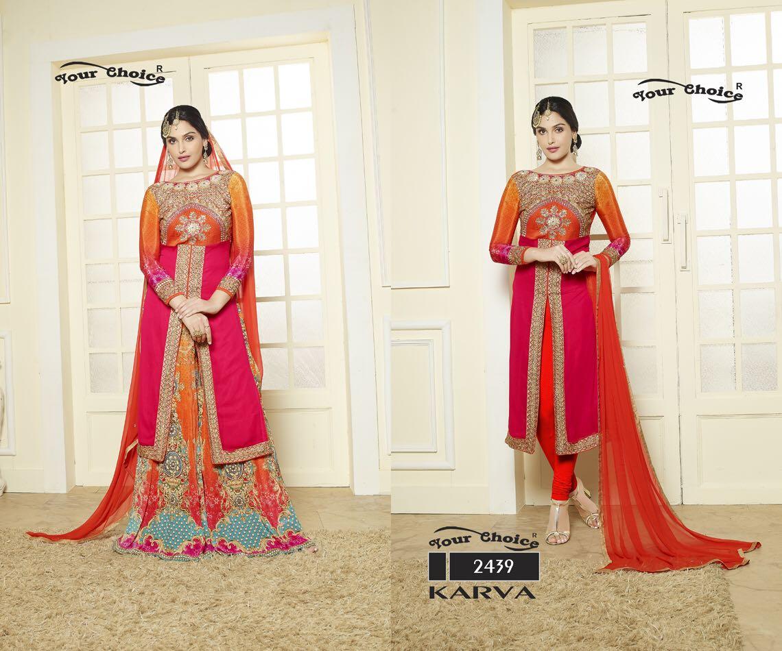 Karwa – Exclusive Faux Georgette Designer Stylish Salwar Suit