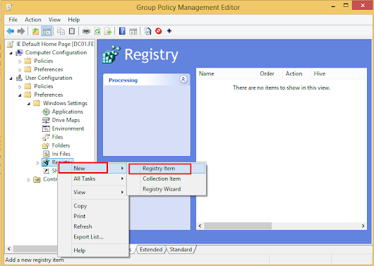 How to set default IE home page via Domain Group Policy