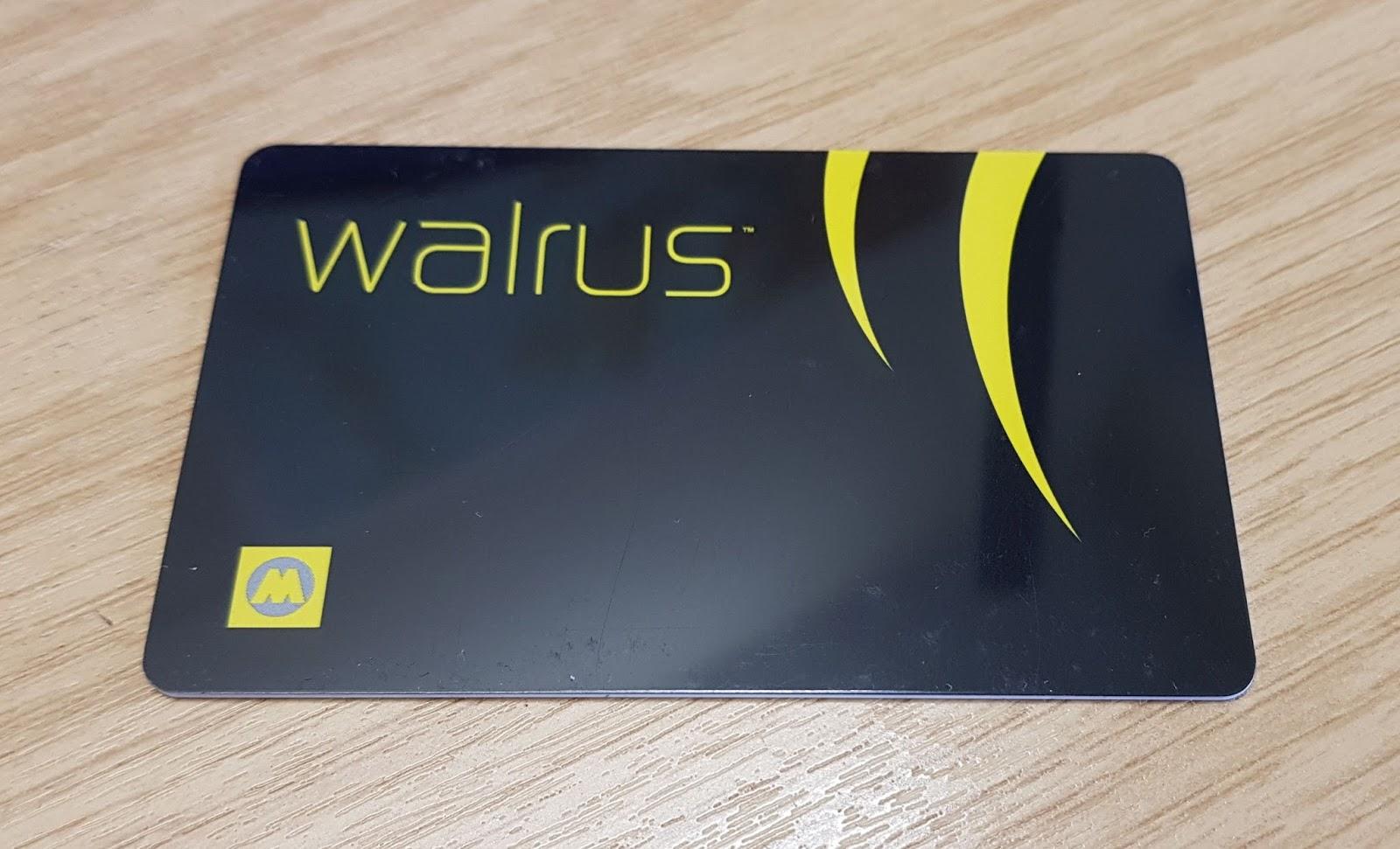My Walrus card Stats Maps n Pix