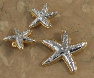 Starfish jewellery set 1990s