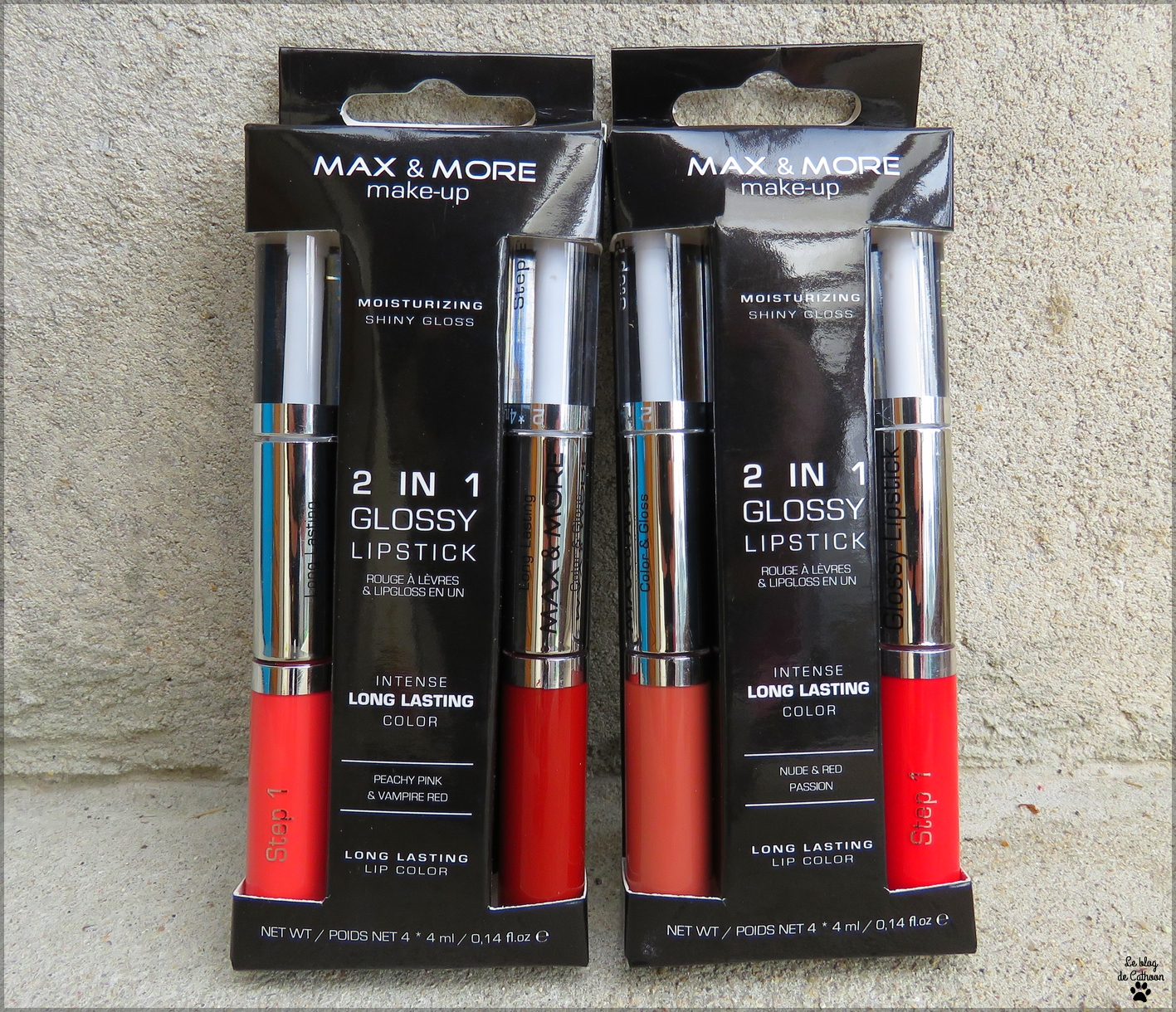 Intense Long Lasting Color - 2 in 1 Glossy Lipstic - Maxe & More