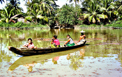Kaladan River at Rakhine