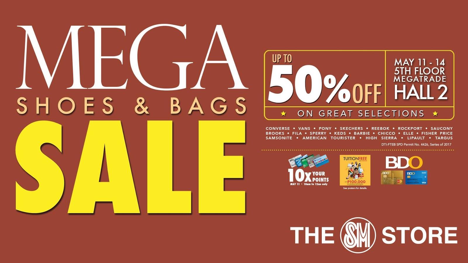 b0214e3f247 Manila Shopper  Mega Shoes   Bags SALE at SM Megatrade  May 2017