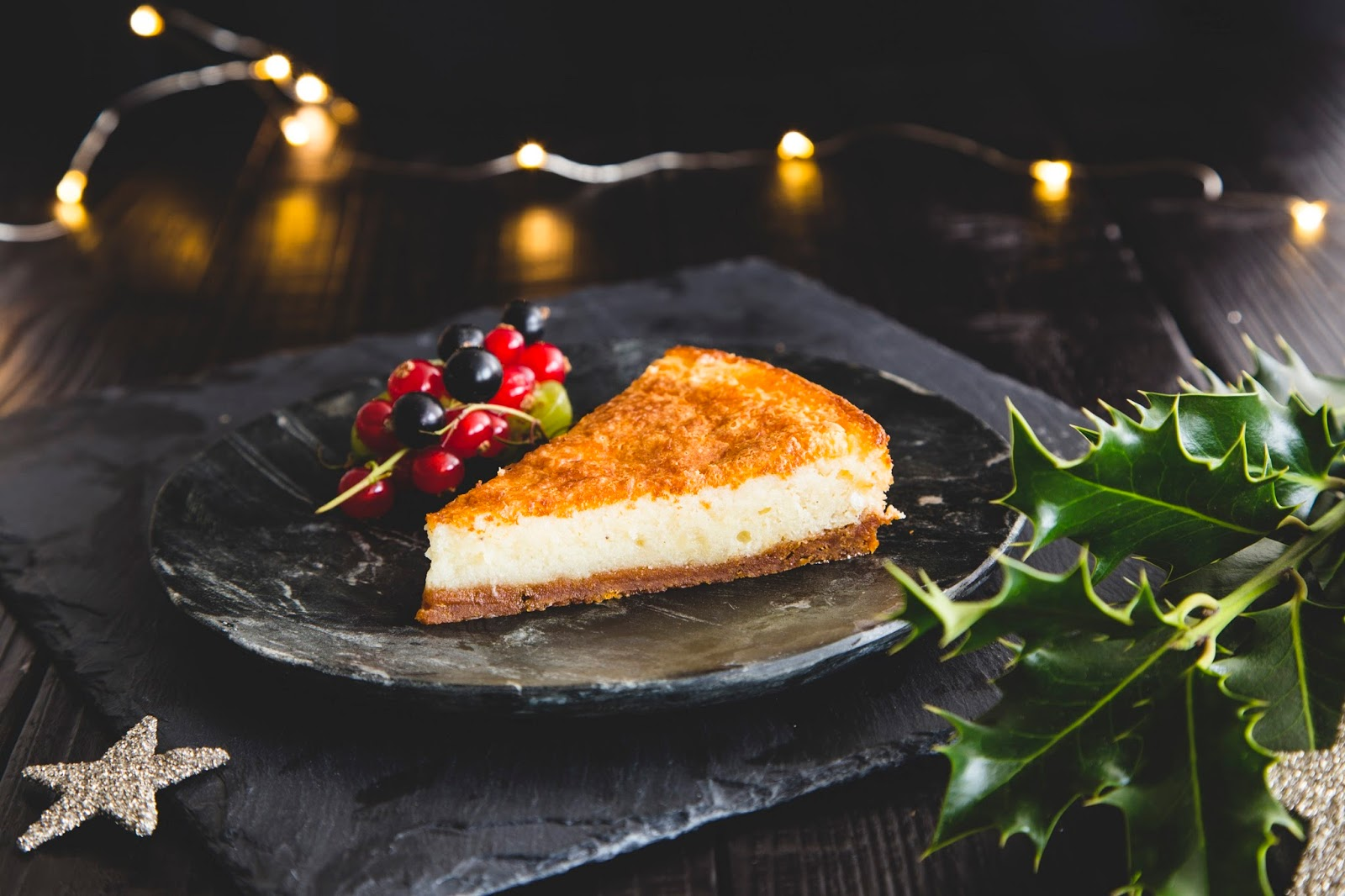 Baked Eggnog Cheesecake, Ginger And Maple Crust