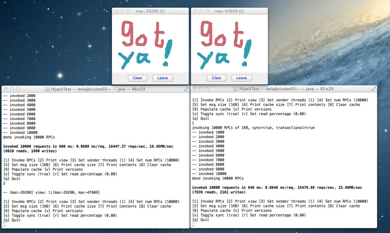How to hijack a JGroups channel inside Infinispan / JBoss