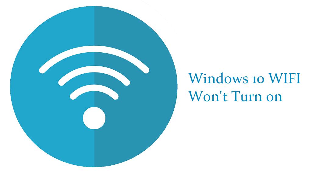 WIFI Windows 10 tidak bisa nyala