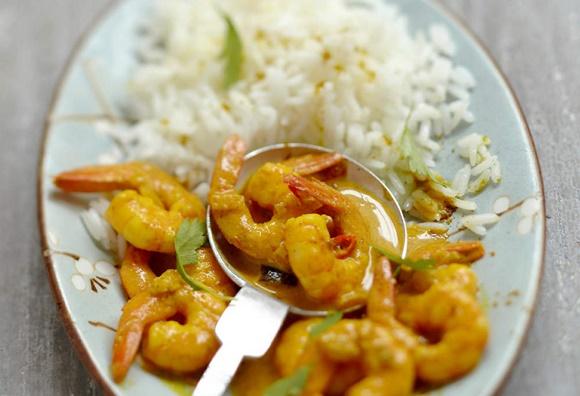Riz Aux Crevettes Curry Et Coco