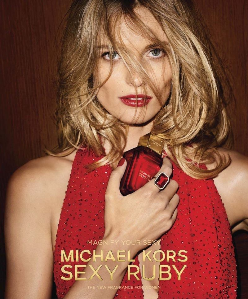 Michael Kors Sexy Ruby Campaign featuring Edita Vilkeviciute