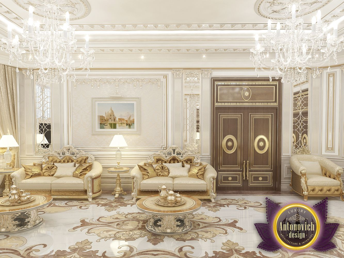 LUXURY ANTONOVICH DESIGN UAE: Living room interior design