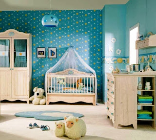 Habitaciones de beb con papel pintado dormitorios colores y estilos - Papel pintado habitacion bebe ...