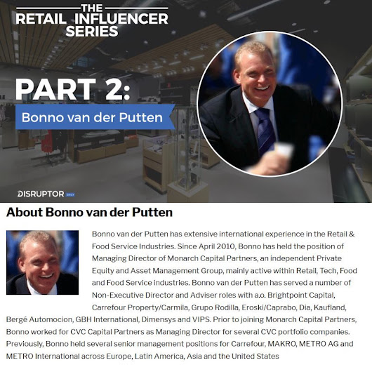 "#InnovateOrDie The Retail Influencer Series Part 2: Bonno van der Putten ""Retail will change more in the next 5 years than the last 50 years, and it's happening quickly"" https://www.disruptordaily.com/the-retail-influencer-series-part-2-bonno-van-der-putten/"