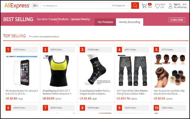 إليكم بعض المواقع التي يمكن أن تساعدك في العثور على منتجات جيدة للبيع والعمل عليها في الدروب شيبينغ