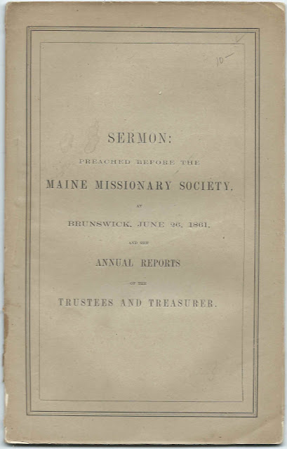 Maine Churches and Pastors Supported by the Maine Missionary Society in 1860 and 1861