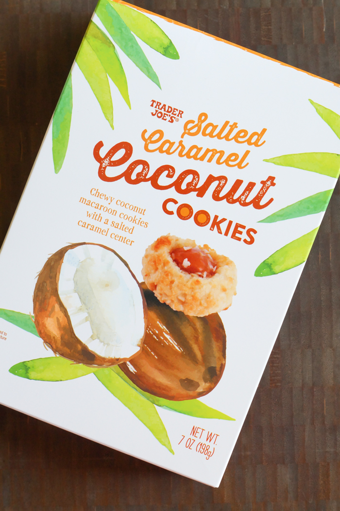 Trader Joe's salted caramel coconut cookies review
