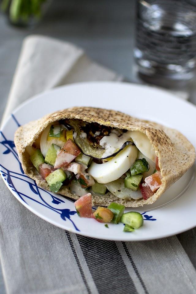 Israeli Vegetarian Sandwich