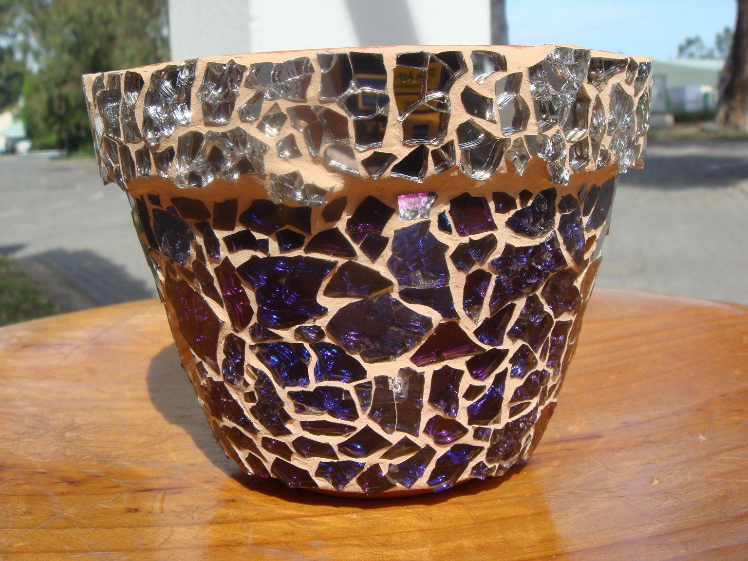 Gem Glass Mosaic Mosaic Flower Pots