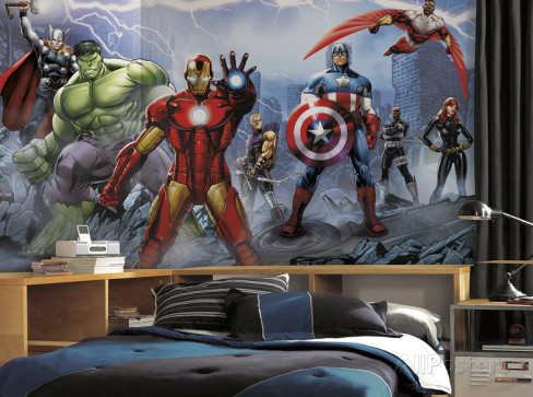 Avengers Wall Mural Boys Room