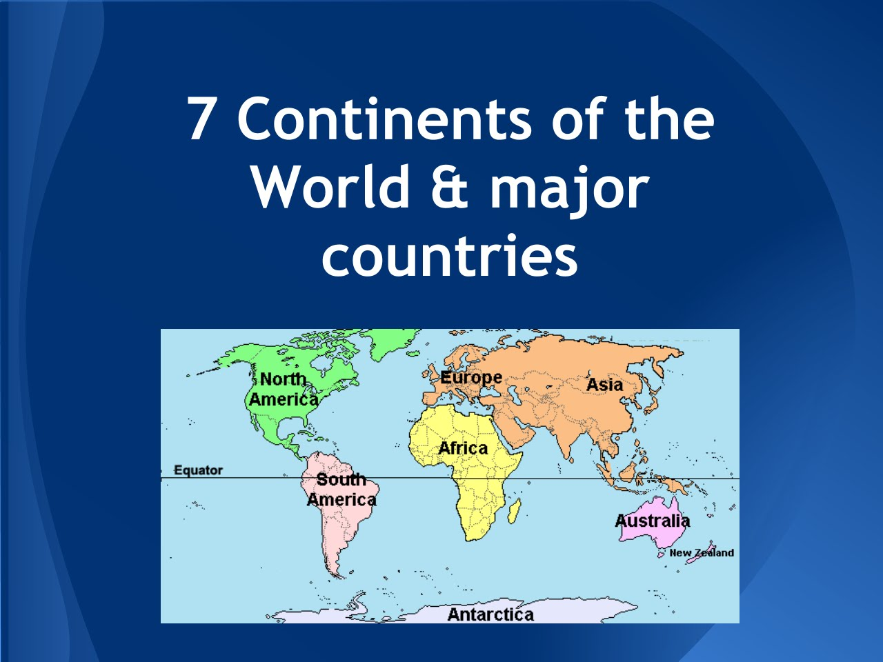Evan Nichelson : My Presentation: 7 continents of the world