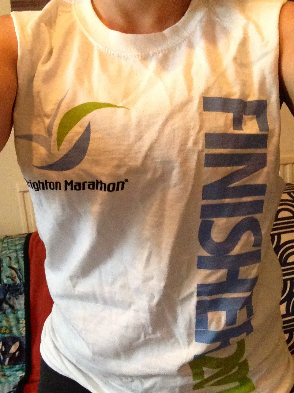 Brighton Marathon 2014 finishers t shirt