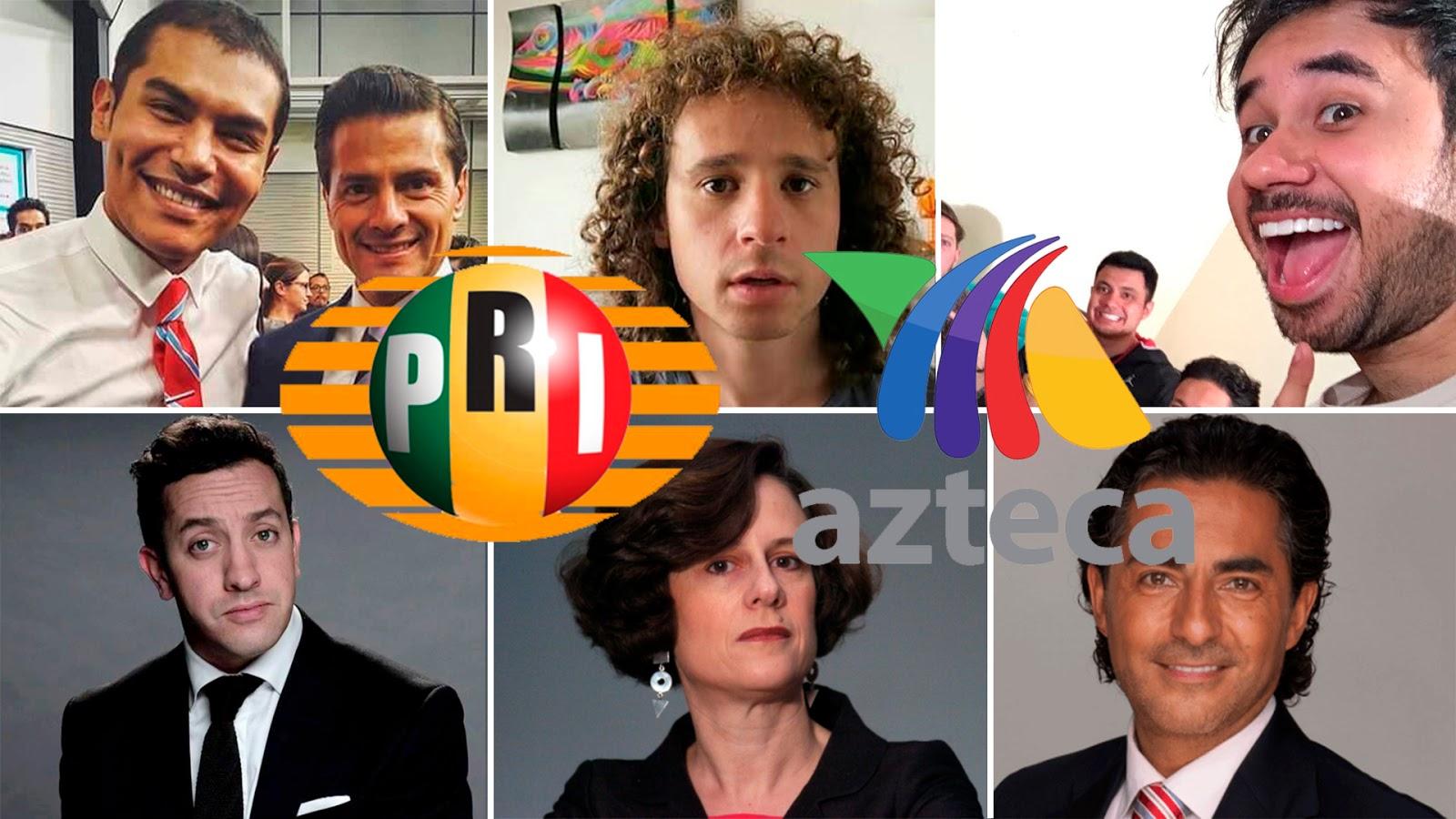 Youtubers, influencers y actores de Televisa/Azteca dispuestos a la guerra sucia contra AMLO y a favor del PRI