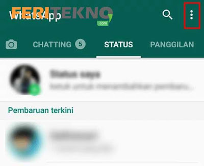 Cara Hide Story WhatsApp