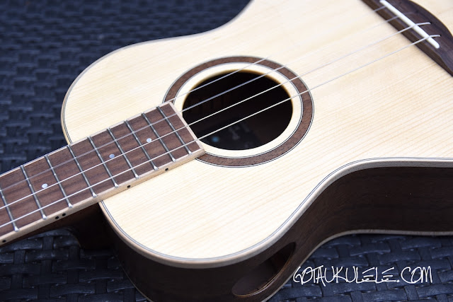 Paul Barnard Wildcat Baritone Ukulele sound hole