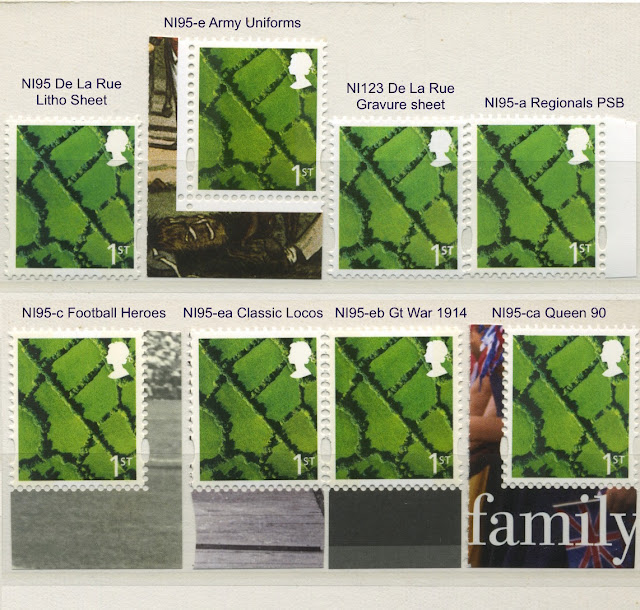 Northern Ireland 1st class stamps - 8 different.