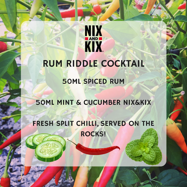 RUM RIDDLE COCKTAIL USING NIX&KIX