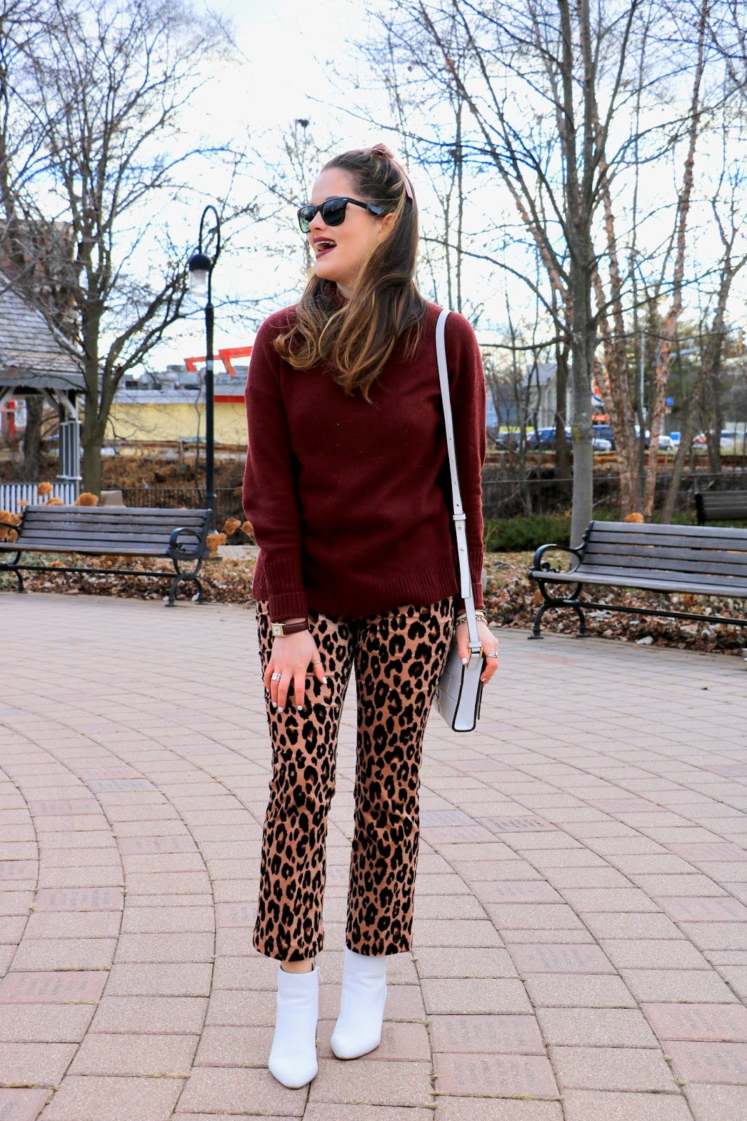 Nyc fashion blogger Kathleen Harper's white boots outfit idea