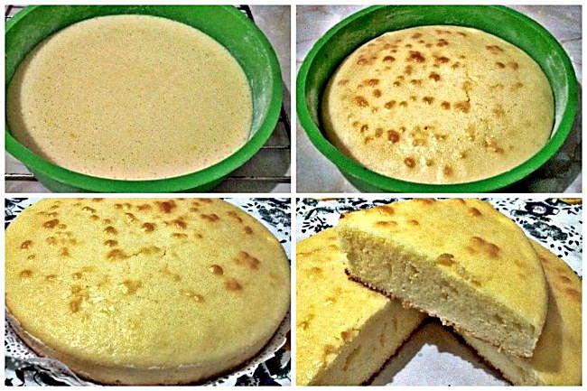 Preparación del bizcocho sin gluten de limón