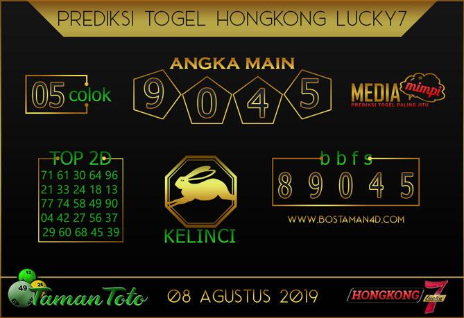 Prediksi Togel HONGKONG LUCKY 7 TAMAN TOTO 08 AGUSTUS 2019