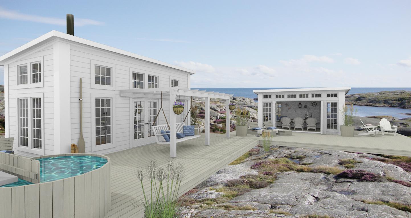 """Den vita drömgården: Ändringar av attefallshuset """"marit"""""""