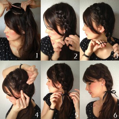 pictorial guide on how to do a side braid