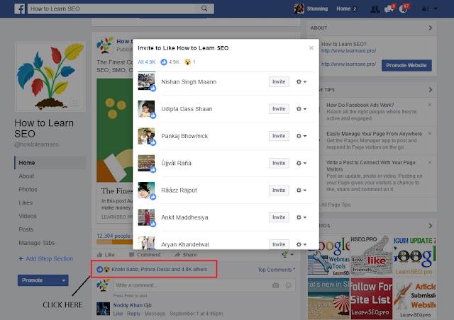 Invite Post Like Users