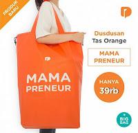 Dusdusan Tas Orange Mama Preneur ANDHIMIND