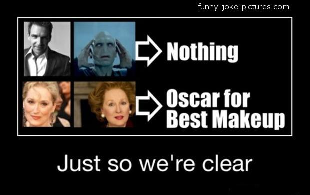 Funny Oscars Best Makeup Joke Image