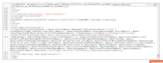 tekan ctrl+f di kotak script kode