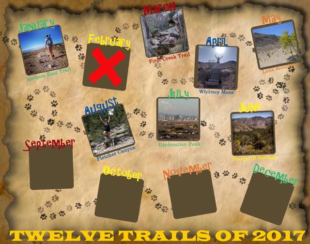 Twelve Trails of 2017 - August