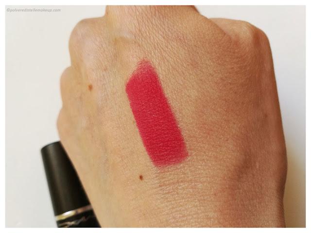 Swatch MAC Lipstick All Fired Up