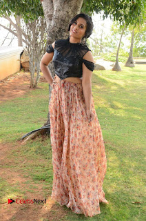 Actress Chetana Uttej Stills in Floral Long Skirt at Pichiga Nachav Movie Press Meet  0106.JPG