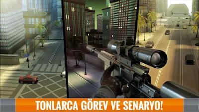 sniper 3d assassin hile apk indir