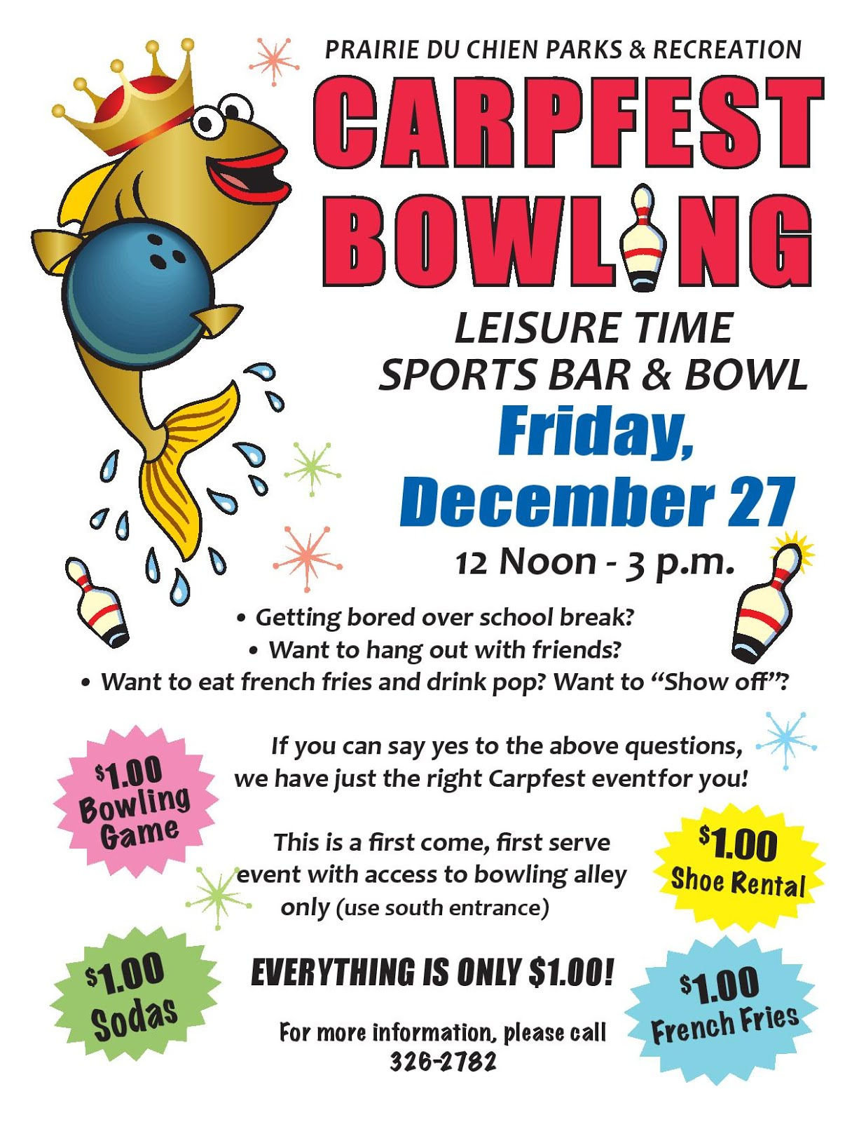 Carpfest Bowling - Dec 27