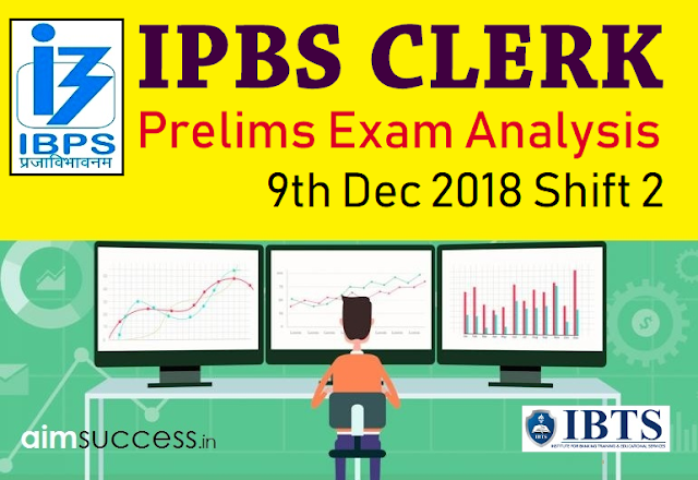 IBPS Clerk Prelims Exam Analysis & Review 2018: 9th Dec Shift 2