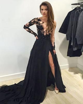 vestido invitada boda negro