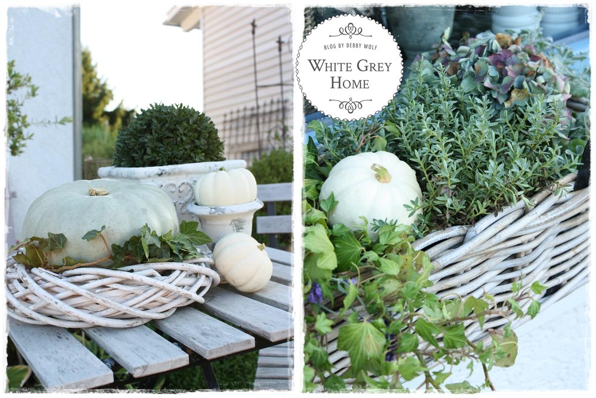 white grey home herbstdeko im garten. Black Bedroom Furniture Sets. Home Design Ideas