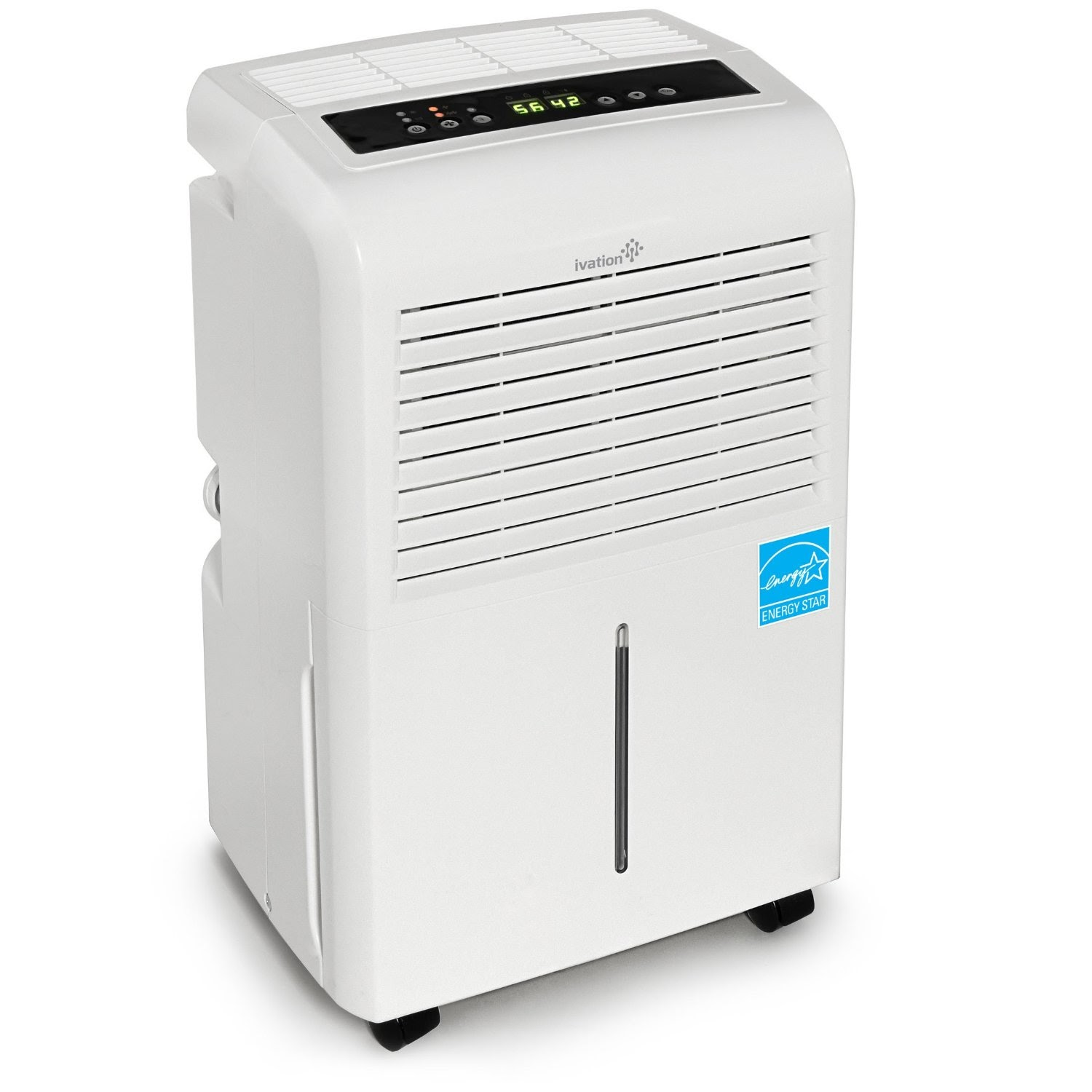 Ivation IVADH30PW 30 Pint Energy Star Dehumidifier. >>