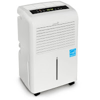 Ivation IVADH30PW 30 Pint Energy Star Dehumidifier, prevents mold and mildew build-up, removes up to 30 pints of moisture per day in rooms up to 2000 sq ft, with washable air filter to remove dust, allergens and odors
